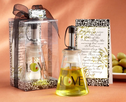 Unique Wedding Favors Olive You Love Oil Bottle