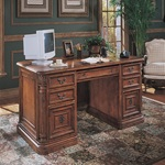 Hooker Villa Florence Executive Desk-Wood Top