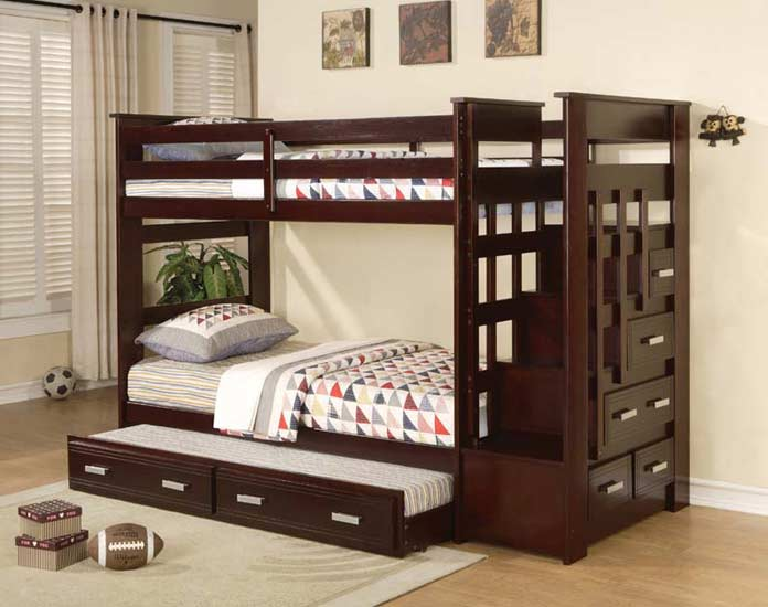 Diego Espresso Twin Bunk Bed