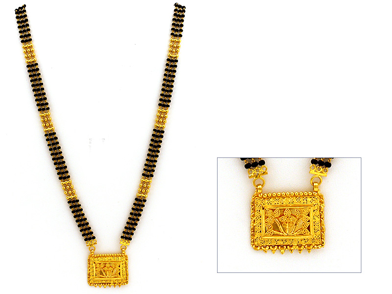 India Jewelry 22kt Gold Plain Pendant and Earring Set