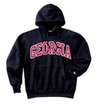 UGA Georgia Bulldogs Champion Men's Black Reverse Weave Hoody Sweatshirt