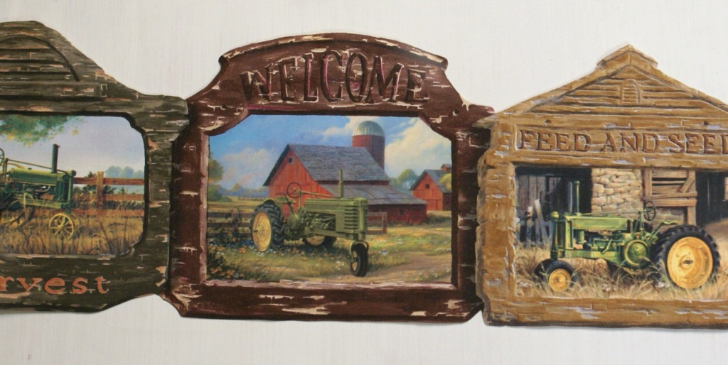 red tractor wallpaper border submited images