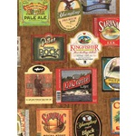 GRAMERCY BEER LABELS WALLPAPER - 4C2 - 687660