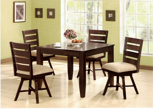 Dining table swivel dining table for Dining room table with swivel chairs