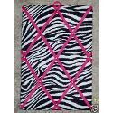 Zebra With Pink French Memo Board (10x15)