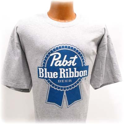 Pabst Blue Ribbon Logo. Pabst Blue Ribbon Gray Tee