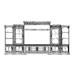 "Aico Furniture Paradisio 6-Piece 50""TV Console Entertainment Wall"