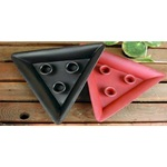 Red 10 in. Tin Triangle Candle Holder with 3 holders **Limited Supply--Discontinued Item