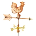 Good Directions Polished Copper Rooster Cottage Weathervane with Garden Pole (802PG)