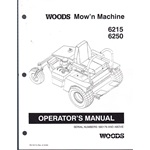 Woods 6215, 6250, Mow N machine mower operators, parts #580179+