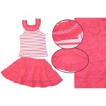 One Kid *Hot Pink* Hot Pink/White Stripe Round Neck Tunic w/Hot Pink Ruffle Skort *Adorable