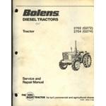 Bolens - Iseki - 2702, 2704, G272, G274, Tractor service