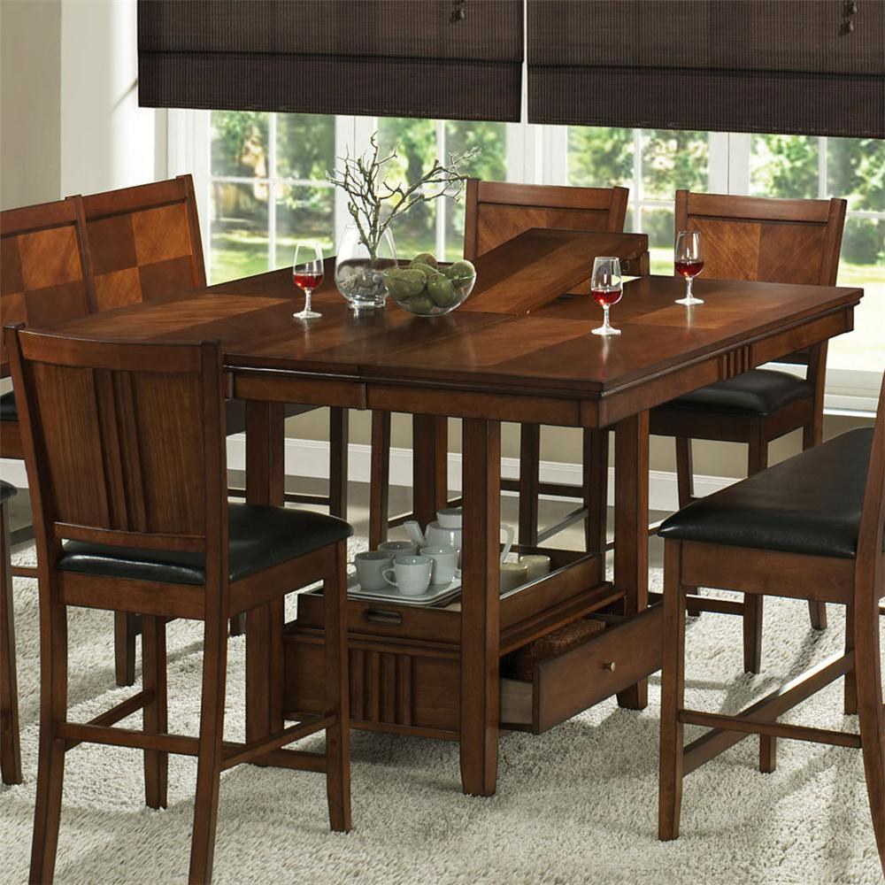 Dining table dining table storage underneath for Kitchen table with storage