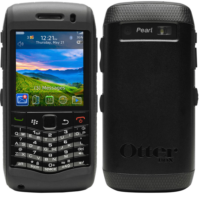 Blackberry 9100/9105 PEARL | Otterbox Commuter black-black | pink-white