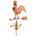"37"" Barn Rooster Full Size Polished Copper Weathervane (Good Directions) (616P)"