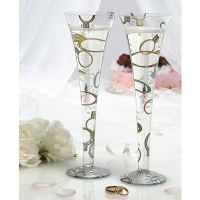 Lily wedding champagne flutessignificant celebrations selling wedding dress - Unusual champagne flutes ...