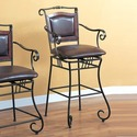 Coaster Dining Chairs and Bar Stools 29&quot; Metal Bar Stool with Upholstered Seat (100159)
