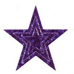 Tri Star Glitter Stickers *20 Per Sheet (Shown in Purple)