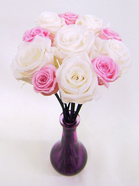 pink rose flower arrangements. at Scented Silk Flower